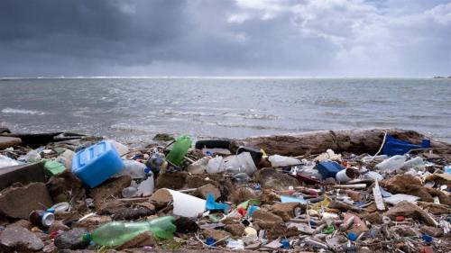The currents wash up plastic on every beach