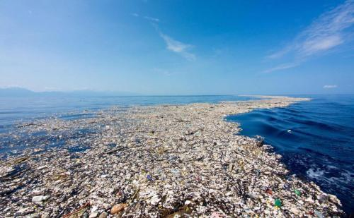 Insane amount of plastic debris