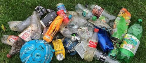 Beach trash collection