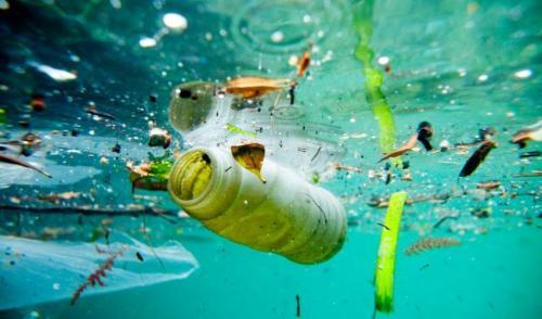 Plastic debris in the ocean