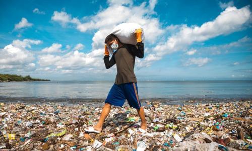 More plastic debris